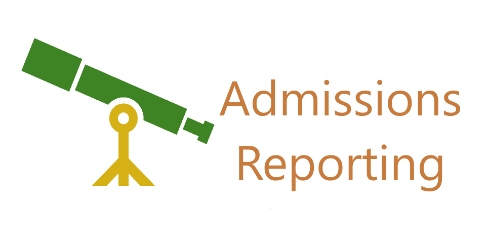Admissions Reporting Button