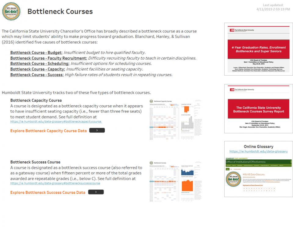 Bottleneck Courses Dashboard